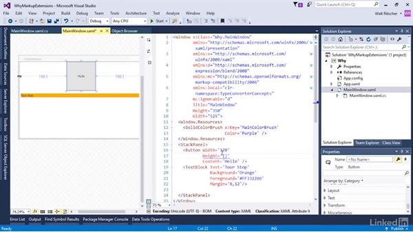 A markup extension and how it compares to a type converter: Microsoft XAML Fundamentals 3: Type Converters and Resources