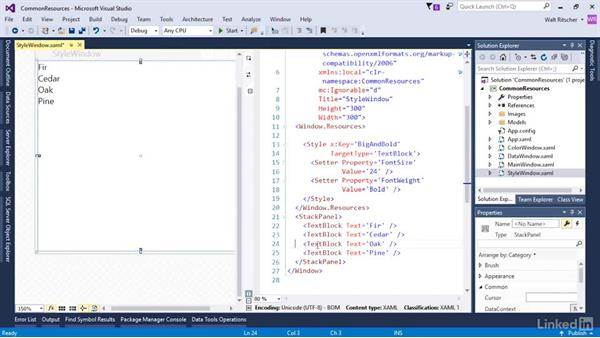 Styles in resources: Microsoft XAML Fundamentals 3: Type Converters and Resources
