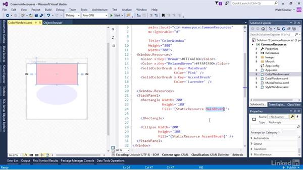 Colors in resources: Microsoft XAML Fundamentals 3: Type Converters and Resources