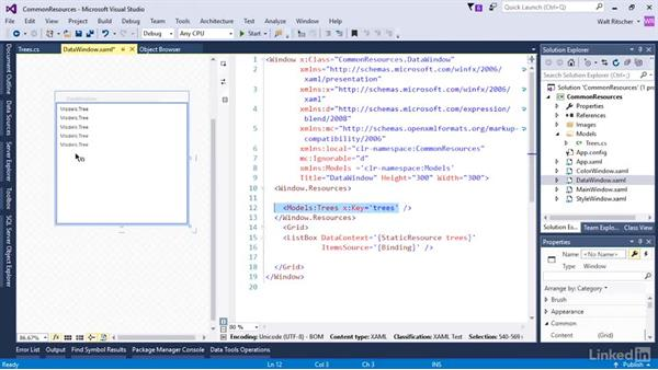 Data and templates in resources: Microsoft XAML Fundamentals 3: Type Converters and Resources