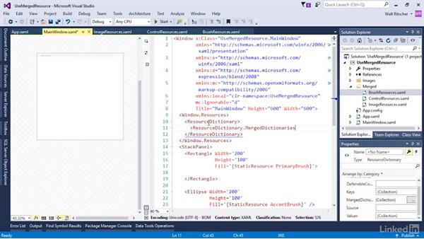 A quick look at merged resources: Microsoft XAML Fundamentals 3: Type Converters and Resources
