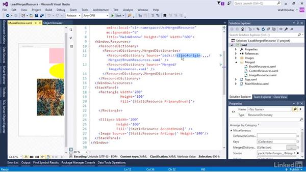 Load a resource file for dynamic application UI: Microsoft XAML Fundamentals 3: Type Converters and Resources