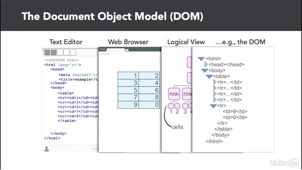 Understanding the DOM and the console: D3.js Essential Training for Data Scientists