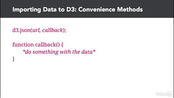 Introducing other data methods: D3.js Essential Training for Data Scientists