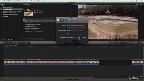 Freeze framing a clip: Final Cut Pro X Guru: Creating Speed Changes