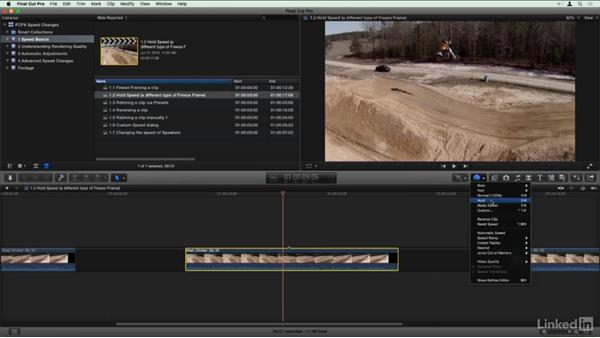 Hold speed: Final Cut Pro X Guru: Creating Speed Changes