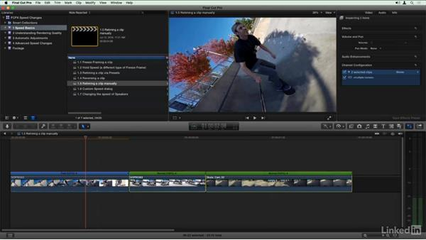 Retiming a clip manually: Final Cut Pro X Guru: Creating Speed Changes