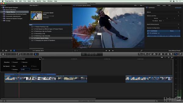 Custom Speed dialog: Final Cut Pro X Guru: Creating Speed Changes