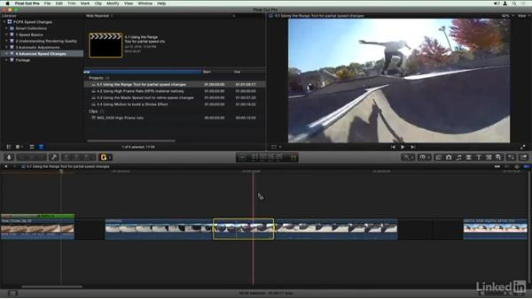 Using the Range tool for partial speed changes: Final Cut Pro X Guru: Creating Speed Changes