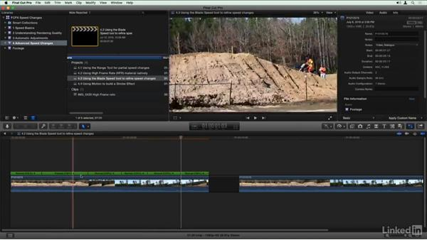 Using the Blade Speed to to refine speed changes: Final Cut Pro X Guru: Creating Speed Changes