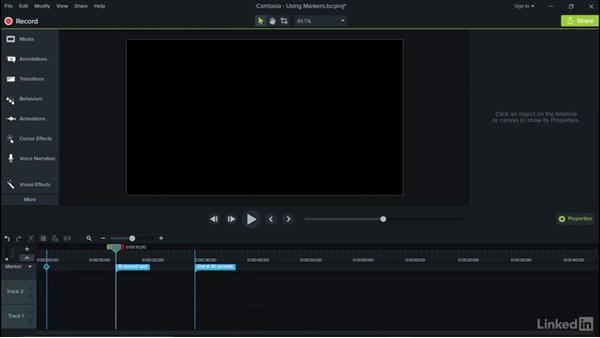 Using markers: Camtasia 9 for Windows Essential Training