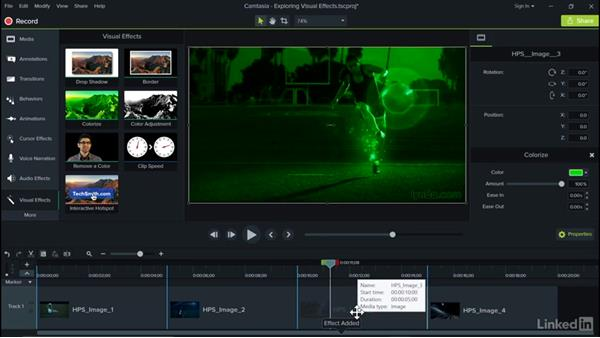 Exploring visual effects: Camtasia 9 for Windows Essential Training