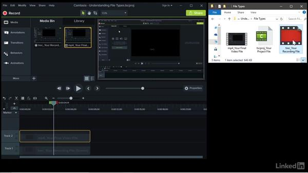 Understanding file types: Camtasia 9 for Windows Essential Training