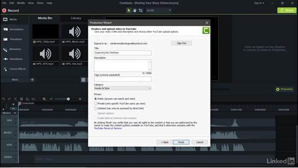 Sharing your story online: Camtasia 9 for Windows Essential Training