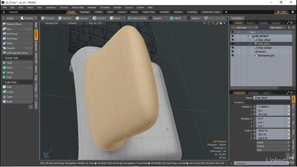 Deformation tools: MODO Essential Training