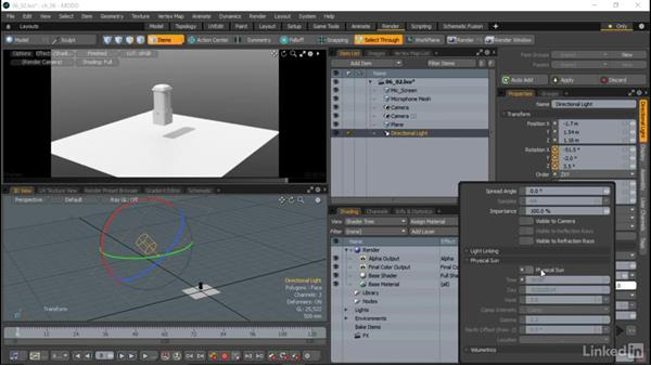 Light types and settings: MODO Essential Training