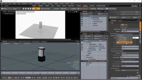 Environment lighting: MODO Essential Training