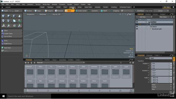 The layout, UV renders, and mapping: MODO Essential Training