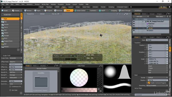 Using the Sculpt tools: MODO Essential Training