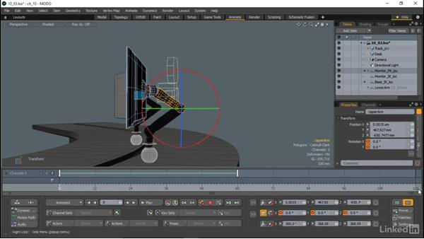 Keyframe animation and the Timeline: MODO Essential Training