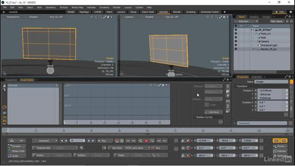 Previewing the animation: MODO Essential Training