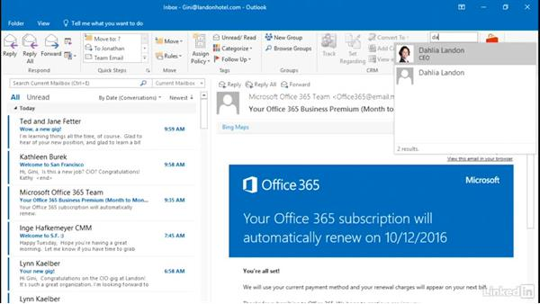 Find a contact in seconds: Outlook 2016: Advanced Tips and Tricks