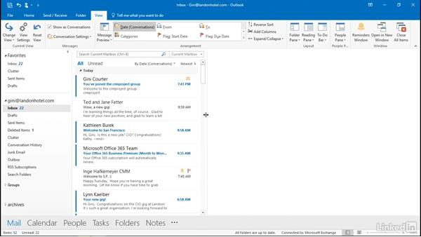 View by group and by conversation: Outlook 2016: Advanced Tips and Tricks