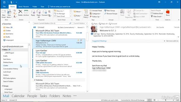 Delete old messages: Outlook 2016: Advanced Tips and Tricks
