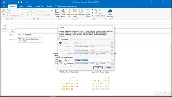 Flag a message for the recipient: Outlook 2016: Advanced Tips and Tricks
