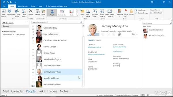 Send business cards and contacts via email: Outlook 2016: Advanced Tips and Tricks
