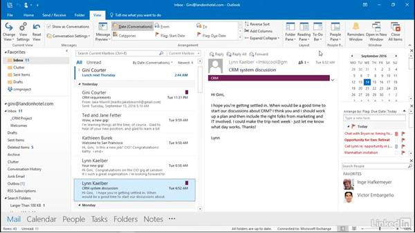 Display the To Do bar: Outlook 2016: Advanced Tips and Tricks