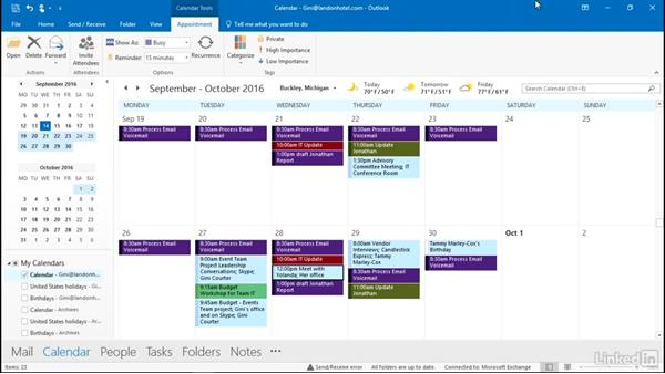 Reschedule appointments and meetings: Outlook 2016: Advanced Tips and Tricks