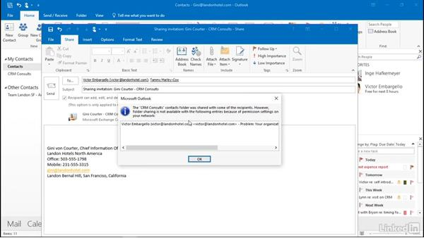Share contacts with a colleague: Outlook 2016: Advanced Tips and Tricks