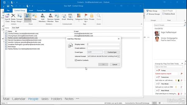 Create a contact group: Outlook 2016: Advanced Tips and Tricks