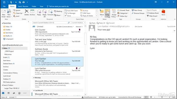 Reply automatically using a template: Outlook 2016: Advanced Tips and Tricks