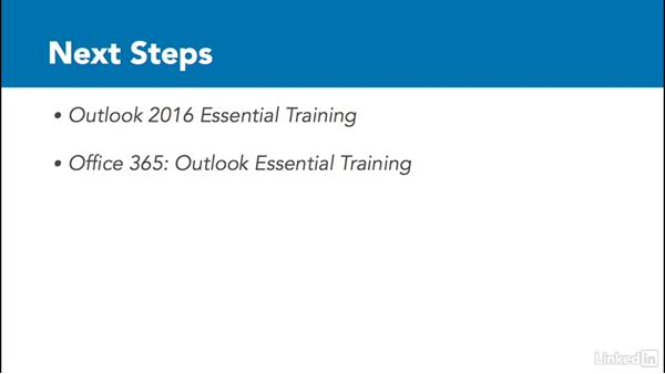 Next steps: Outlook 2016: Advanced Tips and Tricks