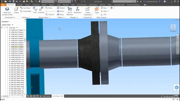 Adding content to a run: Autodesk Inventor Routed Systems: Pipes
