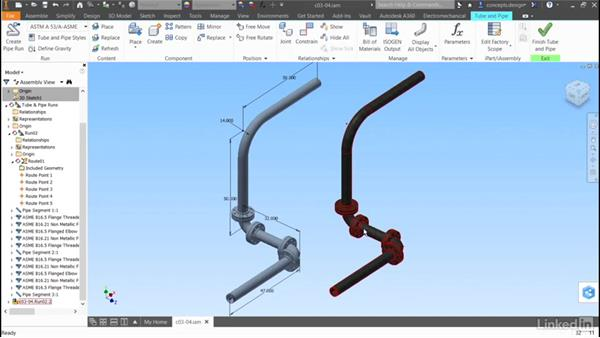 Duplicating a route: Autodesk Inventor Routed Systems: Pipes