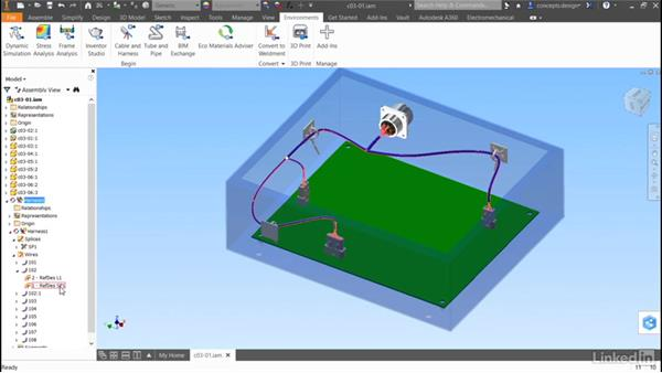 Routed systems overview: Autodesk Inventor Routed Systems: Harness