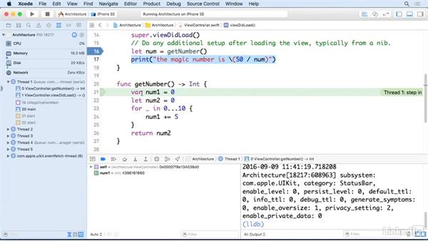 How to use the debugger: iOS 10 App Development Essentials 4: Application Architecture