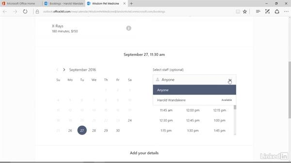 Publish and preview your bookings page: Microsoft Bookings Essential Training