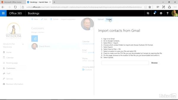 Create and manage your customer list: Microsoft Bookings Essential Training