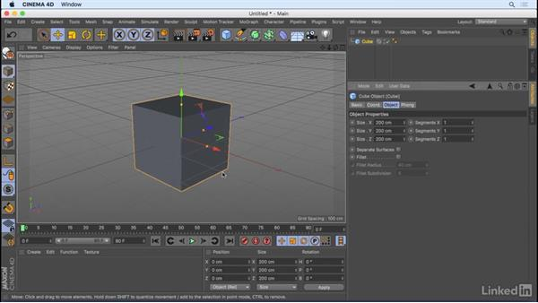 Starting a scene for the first time: CINEMA 4D R18 Essential Training: Motion Graphics