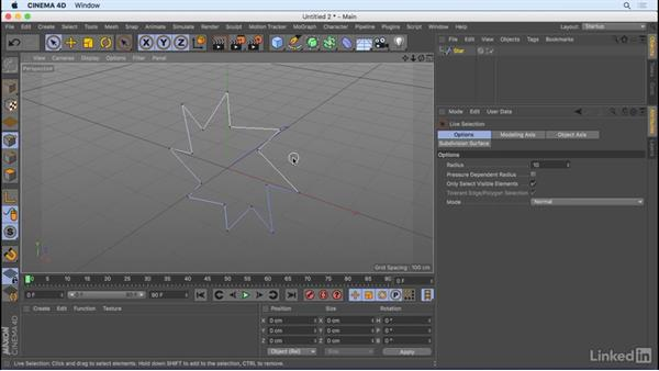 Create and manipulate splines: CINEMA 4D R18 Essential Training: Motion Graphics