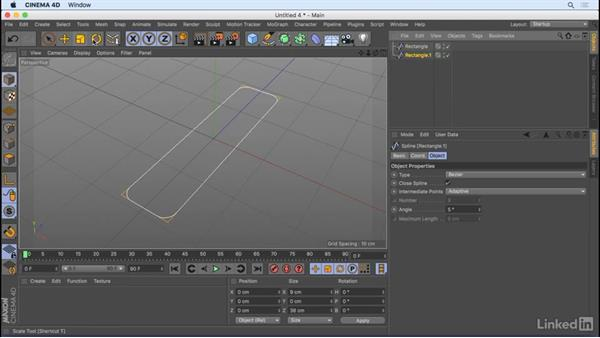 Build complex shapes with spline masks: CINEMA 4D R18 Essential Training: Motion Graphics