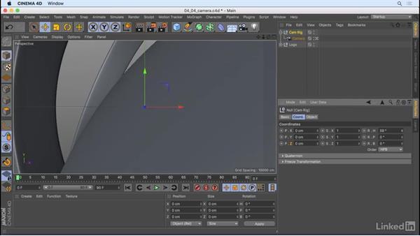 Create a camera animation: CINEMA 4D R18 Essential Training: Motion Graphics