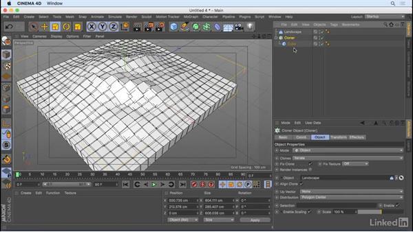 Create clones: CINEMA 4D R18 Essential Training: Motion Graphics