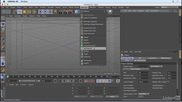 Other MoGraph objects: CINEMA 4D R18 Essential Training: Motion Graphics