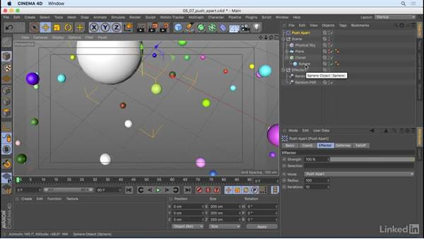 Overlapping clones and bounding boxes: CINEMA 4D R18 Essential Training: Motion Graphics
