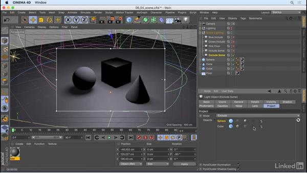 Scene lighting: CINEMA 4D R18 Essential Training: Motion Graphics